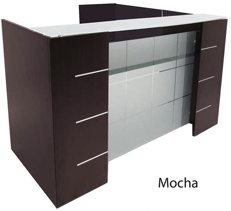 l shaped glass desk l shaped glass front reception desk