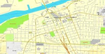 tuscaloosa alabama us exact vector city plan map