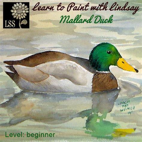 Watercolor Duck Tutorial   learn to paint mallard and ducks on pinterest