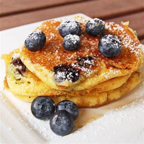 Cooking The Cover Bon Apptits Blueberry Pancakes by Ree S Lemon Blueberry Pancakes Recipe Dishmaps