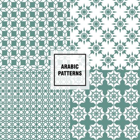 arabic pattern ai green arabic patterns vector free download