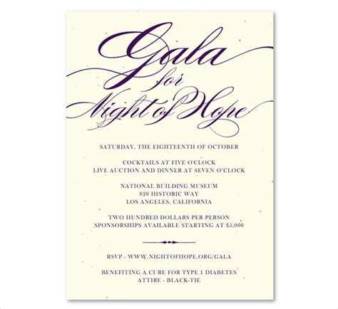 printable event invitations free premium templates