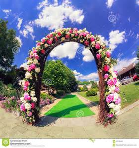 Wedding Ceremony Cards Flower Wedding Gate Stock Photo Image 56740263