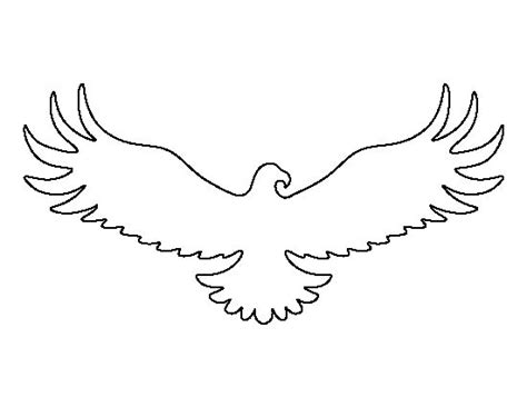 eagle template eagle pattern use the printable outline for crafts