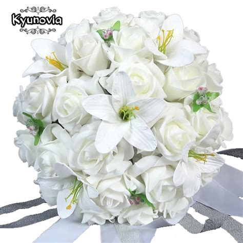 Wedding Bouquet Stores by Aliexpress Buy Kyunovia White Wedding Bouquet