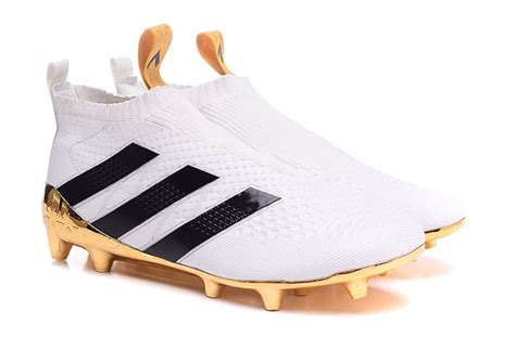 Cheap adidas ace 16 purecontrol fg football boots white black gold