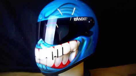 Helm Sepeda Polygon Blaze Helmet Bicycle bandit xxr 360 view custom airbrushing on motorcycle smiley helmet by blaze artworks