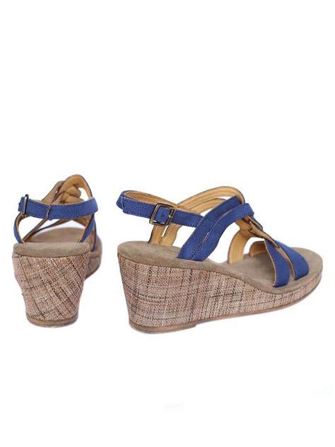 royal blue wedge sandals louise apc royal blue cotton canvas wedge sandals