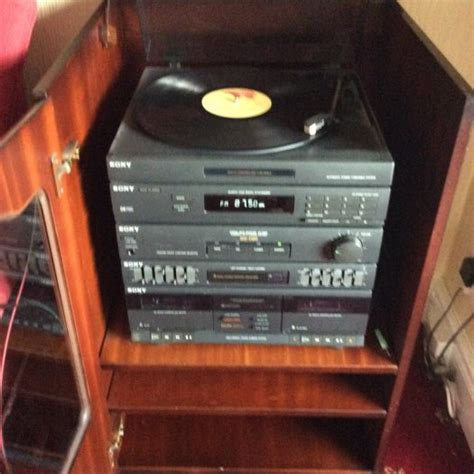 sony cabinet radio sony 3 in 1 stereo cabinet and speakers for sale in