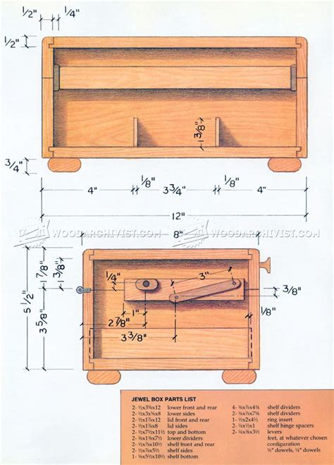 Woodwork Jewelry Chest Woodworking Plans Pdf Plans Wooden Jewelry Box Plans Woodarchivist