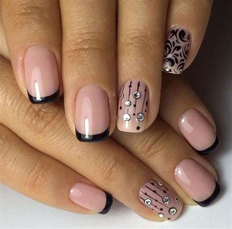 color manicure two colors nail design black nails nails