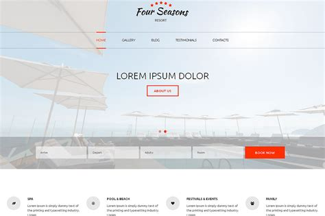 html product page template free hotel responsive one page template html css themes on