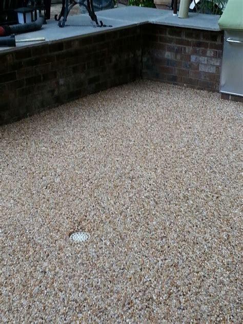 epoxy pebble patio porches