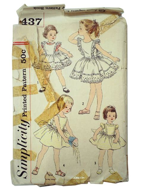 sewing pattern ladies pinafore dress vintage 50s sewing pattern 50s simplicity 2437 womens