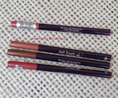 Lip Liner Etude House etude house soft touch auto lip liner review swatches