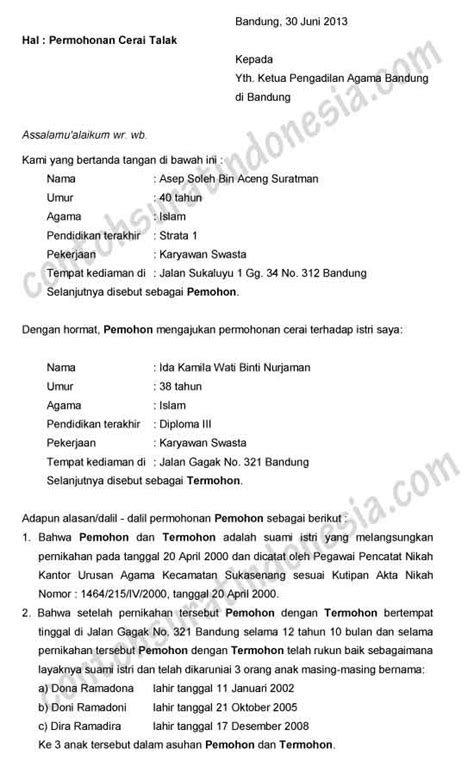 contoh surat cerai related keywords contoh surat cerai