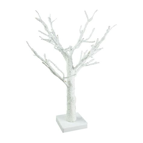 white twig tree 50cm white snowy twig tree with 24 warm white battery