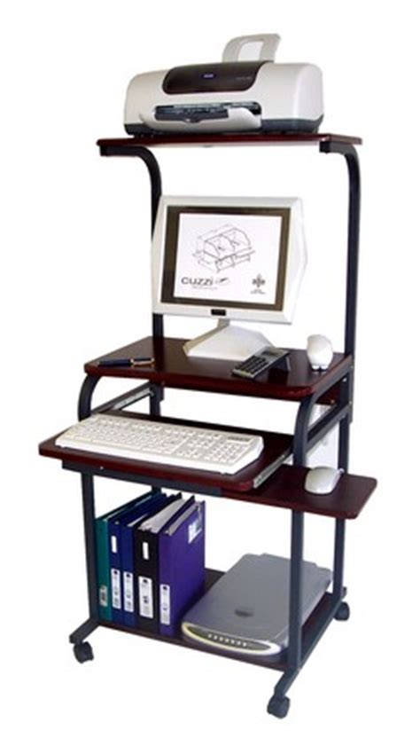 computer desk with hutch and printer shelf cuzzi computer desk sts 5801a