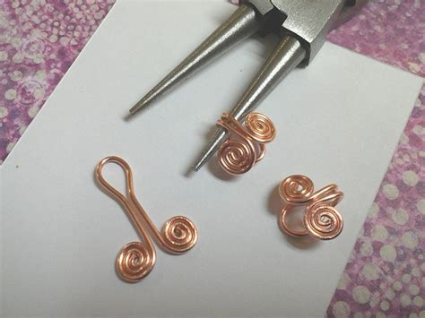 things to make jewelry how to make coils and attach them together wire