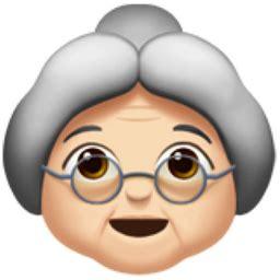old woman: light skin tone emoji (u+1f475, u+1f3fb)