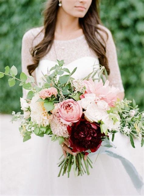 Wedding Day Bouquet by Trending 15 Gorgeous Burgundy And Blush Wedding Bouquet