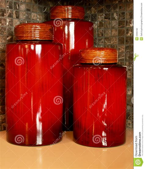 kitchen food storage canisters stock photography image