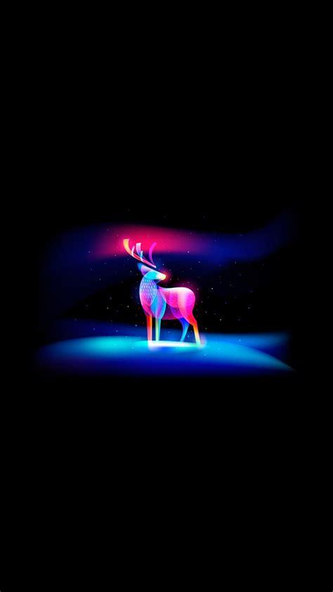 neon art deer iphone wallpaper iphoneswallpaperscom iphone wallpapers
