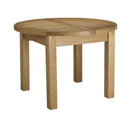 Charltons Bretagne Solid Oak Round Butterfly Extending Extending Oak Dining Tables