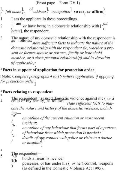 section 12 domestic violence act family courts rules 2002 sr 2002 261 as at 03 august