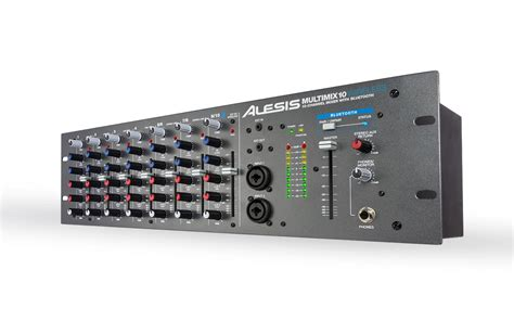 Mixer Audio 10 Channel alesis multimix 10 wireless 10 channel rackmount mixer