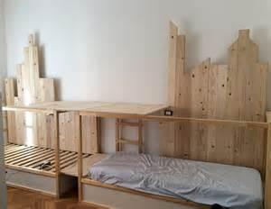 bunk bed hacks ikea kura hack triple bunk bed mommo design