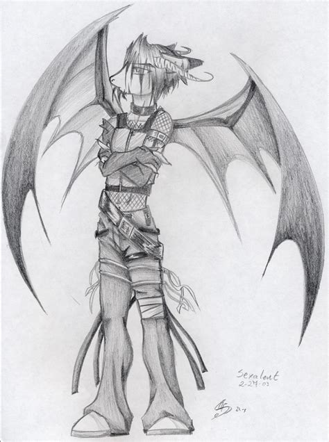 anime demon drawings anthro demon boy by lavonne on deviantart
