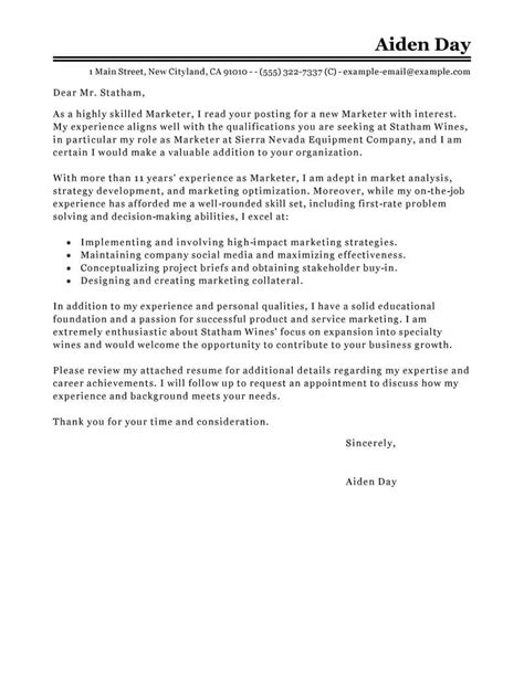 resume examples templates marketing internship cover letter easy