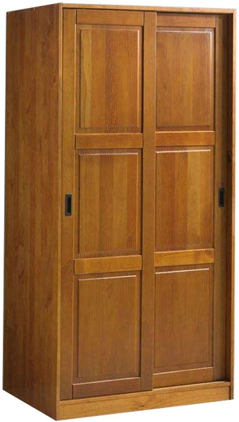Discount Solid Wood Modern Armoire Wardrobe With Sliding Door And Consumer Reviews