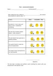 peer assessment template