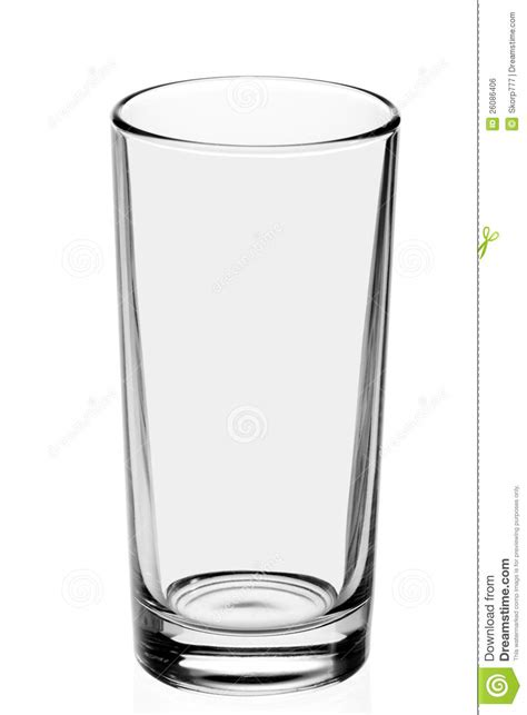 Crystal Wine Glasses by Empty Glass On The White Background Stock Photo Image
