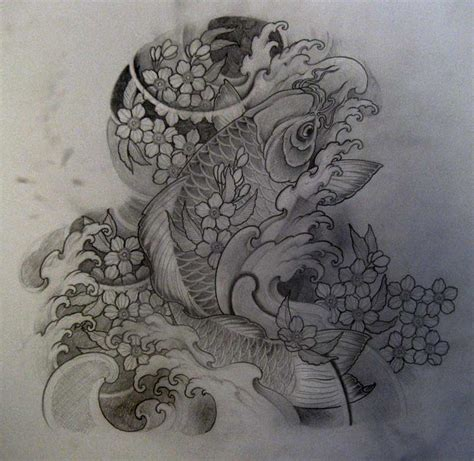 tattoo koi hannya koi halfsleeve design by terokiiskinen on deviantart