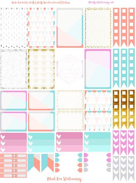 boho geometric happy planner sticker set