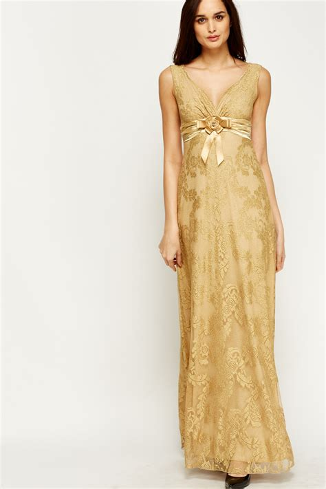 Gold Maxy metallic gold maxi dress just 163 5