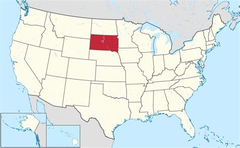 south dakota in usa map list of cities in south dakota