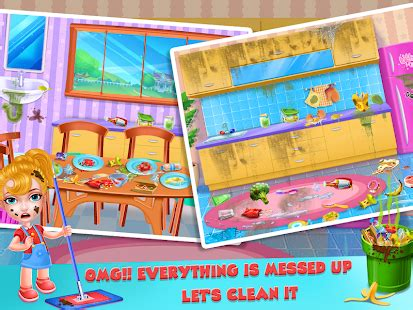 keep your house clean girls home cleanup game android