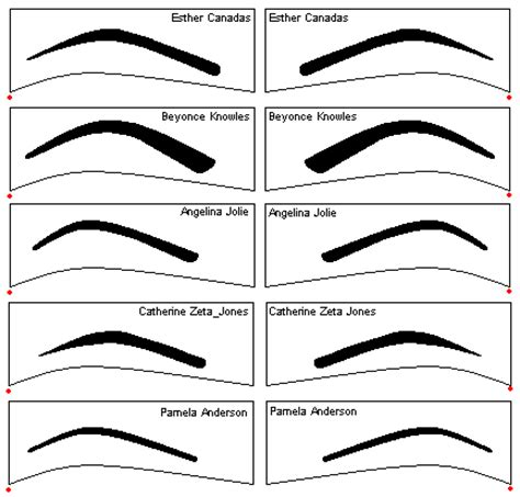 Eyebrows Template collection of beautiful eyebrow shape tips for beautiful