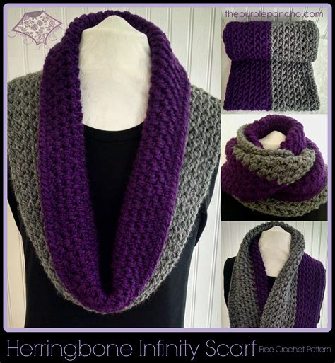 Pinterest Pattern For Infinity Scarf   herringbone infinity scarf a free crochet pattern by the