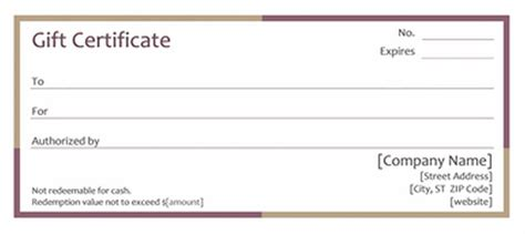 blank massage gift certificate template gift certificates
