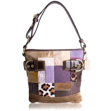 Coach Purse Patchwork - coach patchwork duffle handbag