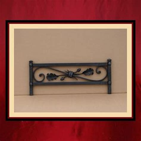 iron grate front with oak leaf detail northshore