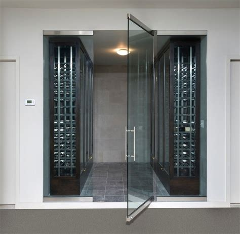 wine cellar glass doors frameless wine room glass doors