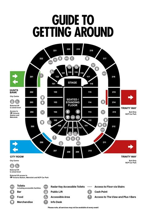 O2 London Floor Plan seating plan for manchester arena