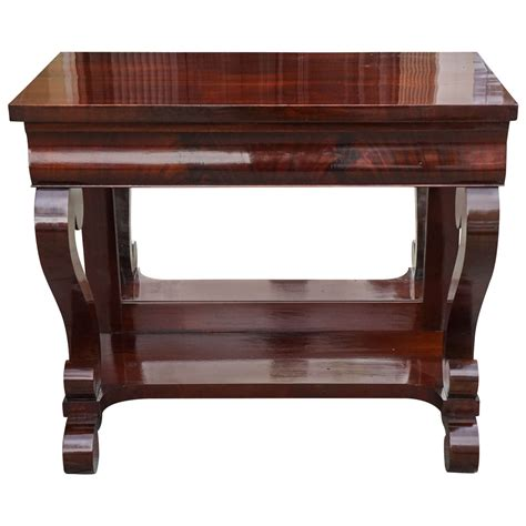American Empire Furniture by 19th Century Mahogany American Empire Pier Table For Sale At 1stdibs