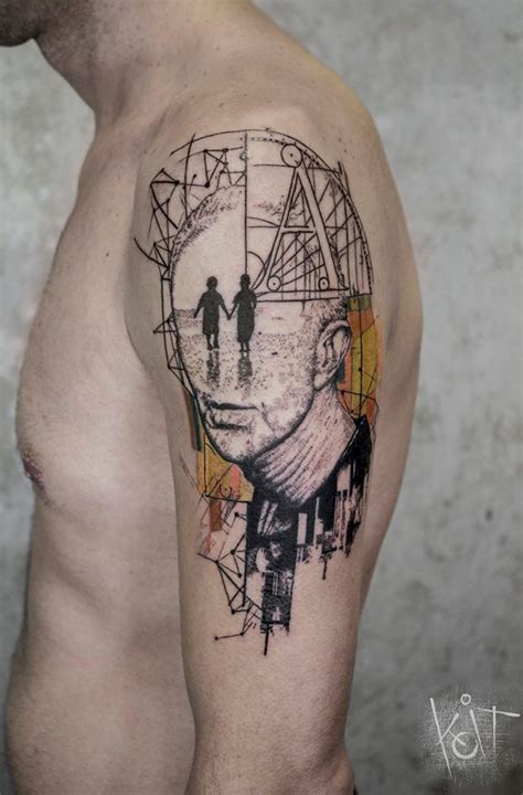 abstract tattoo for men best 25 geometric tattoos ideas on mens